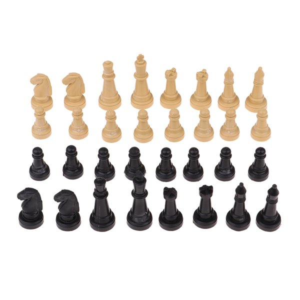 best selling 320 Pieces Wooden International Chess Set Creative Toys for Travel Games Chess Chessman Collection