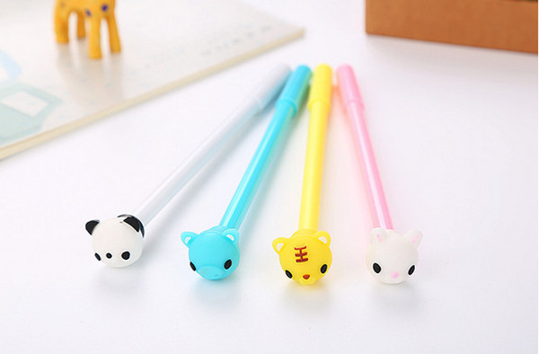 Stationery Cute Animals Pencils Neutral Pencil Cartoon Silicone Pen Gel Pens