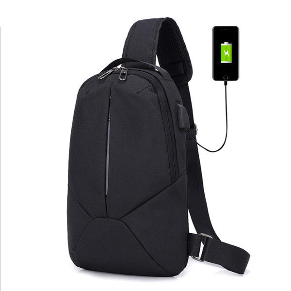 small usb charge one shoulder bag men messenger bags male waterproof sling chest bag 2018 new bagpack cross body bags