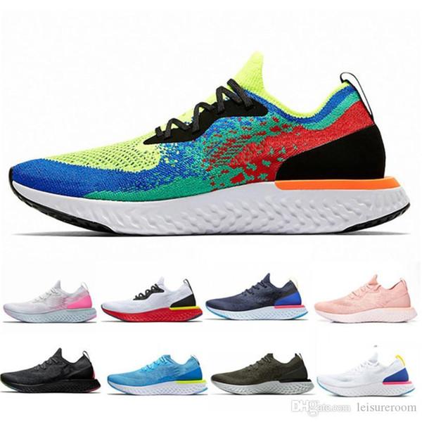 Hot Sale Epic Réagir tricotée Chaussures de course pour Homme Femme Element 87 Designer Chaussures de sport Chaussures de sport classique en plein air Formateurs légers