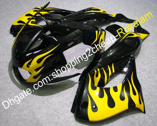 YZF-1000R 97-07 Fairing Bodywork Parts For yamaha YZF1000R Thunderace 1997-2007 YZF 1000R Yellow Flame Black ABS Fairings Aftermarket Kit