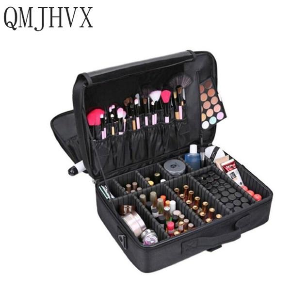 Maskenbildner Reisezubehör Professionelle Kosmetikkoffer für Kosmetiktasche Semi-Permanent Tattoo Nails Multi-Lay-Luggag