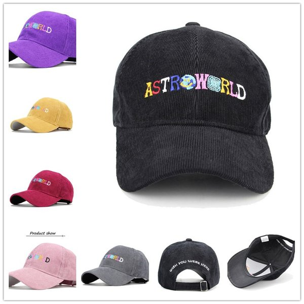 ASTROWORLD Women Mens Ball Hats Fashion Letters Embroidery Baseball Cap Snapbacks Sports Basketball Caps Hip hop Hats Solid Color B62901