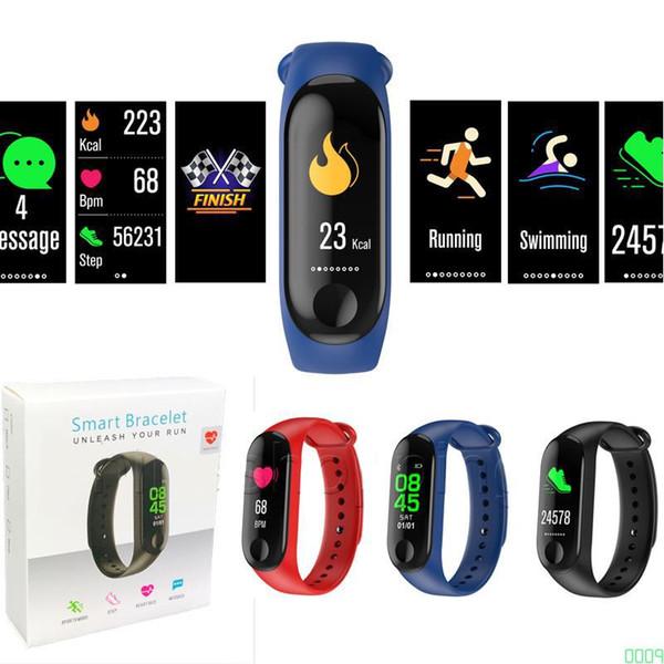 M3 Smart Band Bracelet Heart Rate Watch Activity Fitness Tracker pulseira Relógios reloj inteligente PK fitbit MI BAND 3 for apple wa 0009