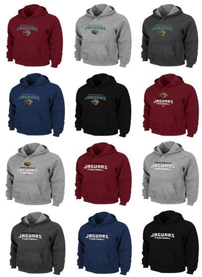Jacksonville Men Jaguars Pro Line от фанатиков Фирменный красно-синий черный серый серый логотип с капюшоном с логотипом