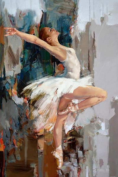 Dipinto ad olio Impressionista su tela Ballerina Dipinto ad olio di Mahnoor Mano Shah Dipinto di balletto Quadri Dipinto 100% dipinto a mano