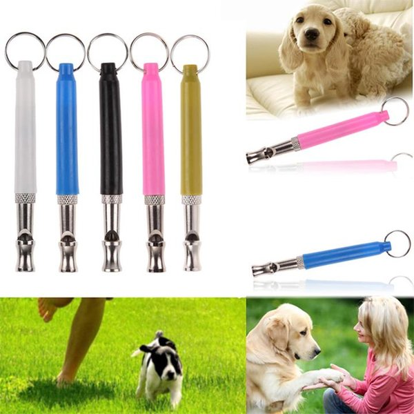Pet Dog Bird Training Whistle Ultrasonic Dogs Training Flute with Strap Bullet Clicker Bark Control for Dogs Puppy Pet Supplies