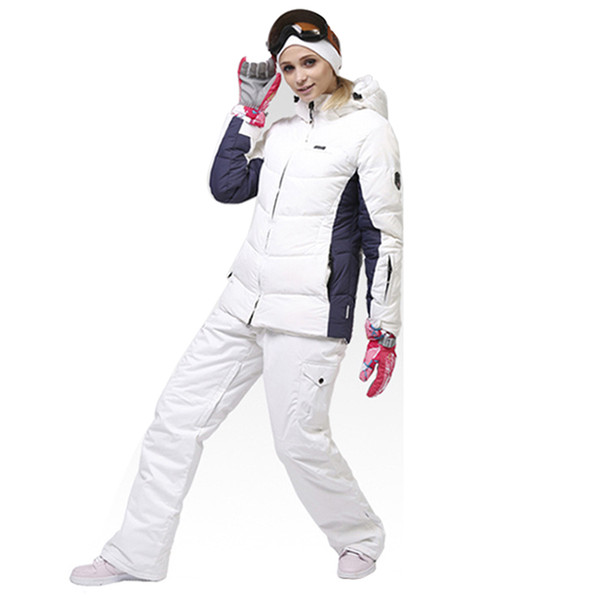 Ski suit women's clothing single and double board ski suit winter women's windproof warm jacket -30 degrees hiking pants
