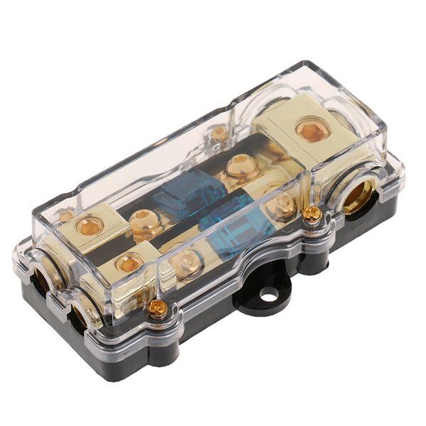 top popular Car 60A Audio Fuse Holder Power Distribution Block Fusebox Universal High Quality 2021