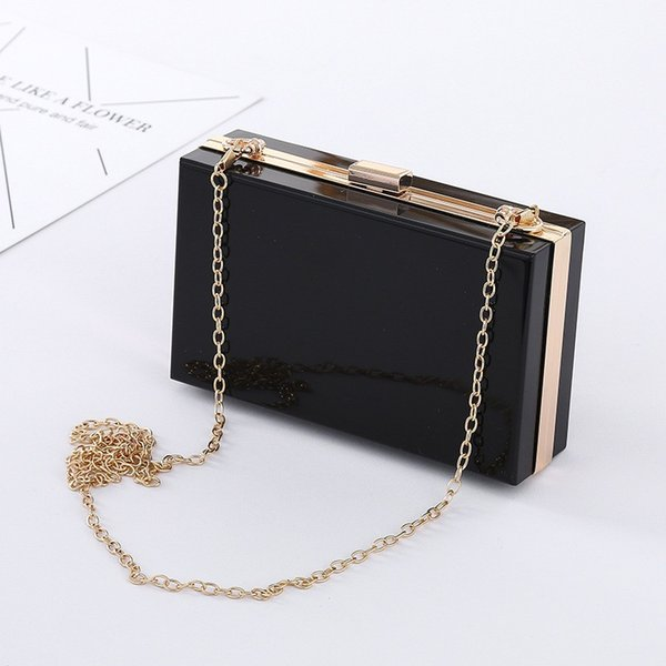 Women Bags Lucite See Through Handbags Evening Clutch Events Stadium ApprovedHand-held Hard-shell Square Evening Dressing Bag