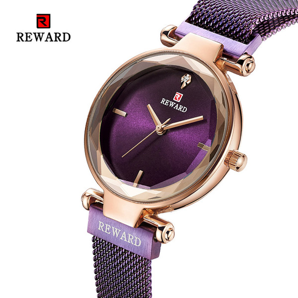 2019REWARD New Luxury Crystal Watch Women Quartz Watches Ladies Top Brand Female Wrist Watch Girl Friend Wife Gift Clock Zegarek
