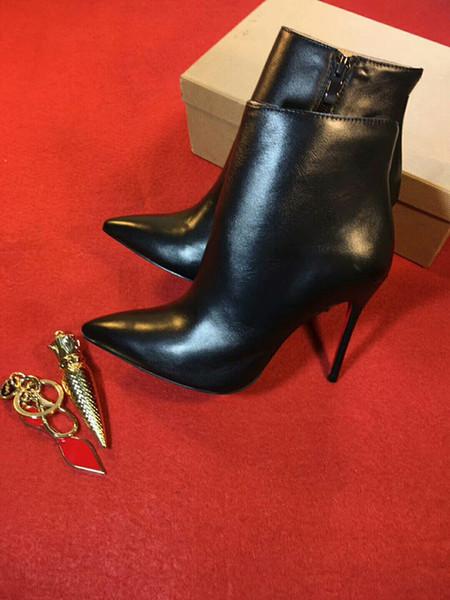 Sapatos de grife sapatilha Então Kate Spike Styles Salto Alto Metade do Joelho Ankle boots Red Bottoms Luxo tamanho da moda 35-41 oms19090602