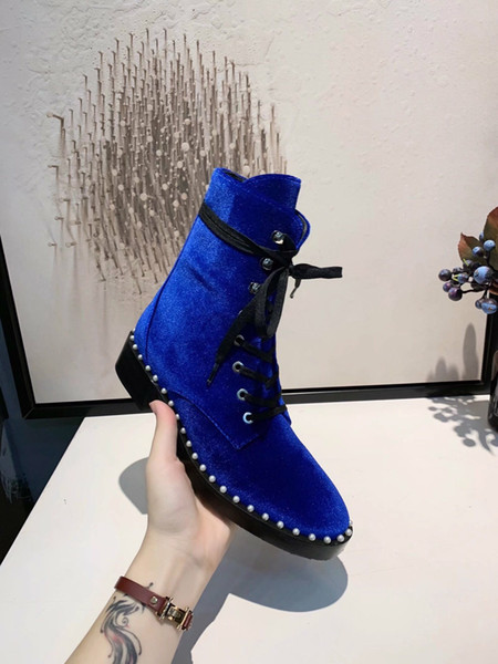 Large Size New Style Autumn and Winter Martin Women Boots Shoes Wholesale brand fashion luxury designer women shoes zx0816