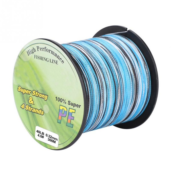 PE Braided Fishing Line Multifilament 300M 4 Strands Fishing Line Rope Carp Cord For Saltwater Weave Kite Wire 12-80lb