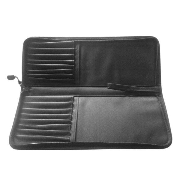 16 Holes Wear Resistant Portable With Handle Oxford Cloth Zipper Closure Pen Holder Storage Bag Organizer Paint Brush