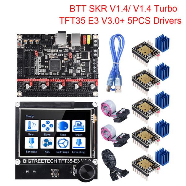 3D Druck 3D Druckerteile Zubehör BigTreeTech BTT SKR 1.4 SKR V1.4 Turbo 32bit Board TFT35 E3 V3.0 Touch Screen-Upgrade