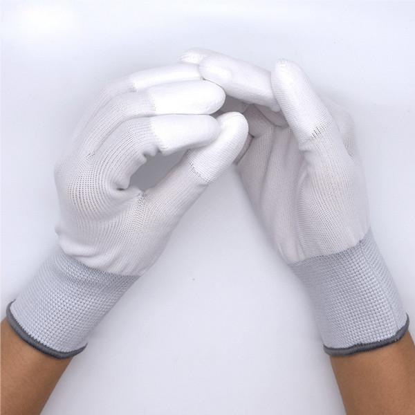 2 Çift / torba Antistatik Eldiven Anti Statik ESD Elektronik Çalışma Eldiven Karbon Fiber PU Boyalı Parmak Telefon Tamir Araçları