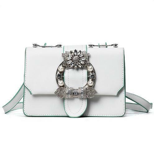 2018fashion pelle nuove borse di qualità PU borsa Messenger bag donne sacchetto britannico tendenza retrò piazza rivetto diamante delle signore di spalla