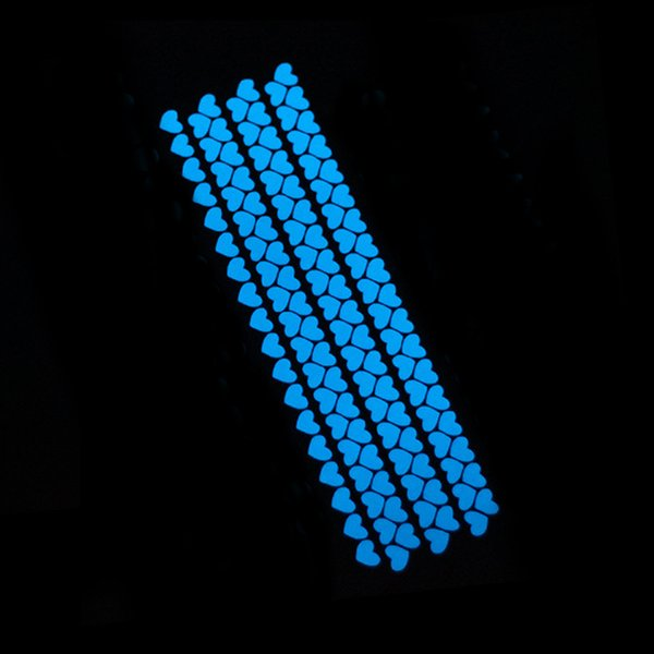 126pcs heart blue