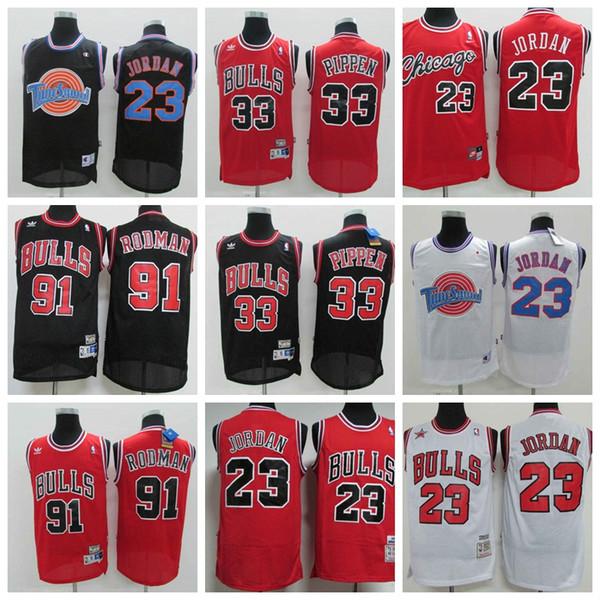 Laker Chicago 2019 Bulls Retro Chicago Basquetebol # 23 # Michae MJ Jerseys 33 # # Scottie Pippen 91 # Dennis Rodman Mitchell Jerseys