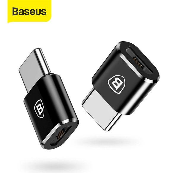 Adaptadores de teléfonos baratos Convertidores Baseus OTG Adaptador USB Tipo C Macho a Micro USB Convertidor Femenino Femenino CARGA RÁPIDA ADAPTADOR DE TRANSFERENCIA