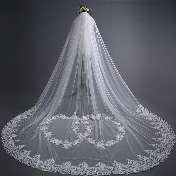 Sweetheards Lace Wedding Veils 3*3m Wedding Bridal Hair Accessories Wedding Accessories Bridesmaid Veils With Comb Cheap Bridal Accessories