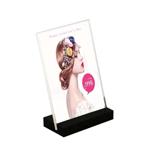 150x100m Desk Sign Display Holder paper Name Card Frame Acrylic Label Holder small price tag display desk sign holder photo rack