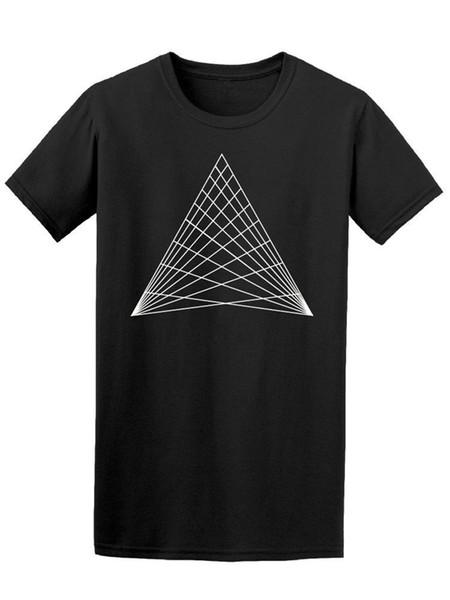 T-shirt triangolare realizzata con Line Art - Immagine di maglietta a figura intera