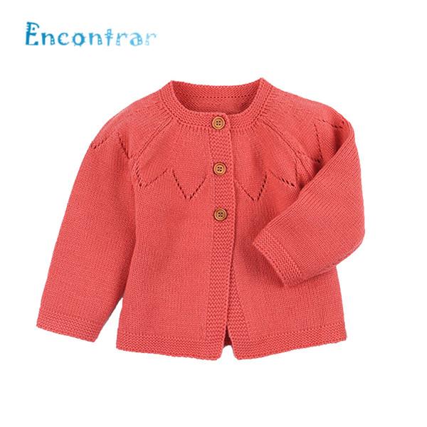 Encontrar Bebê Sólida Camisola Casaco Menina / Menino Bonito Quente Roupas De Inverno Recém-nascido Crianças Cardigan Jaqueta 6M-24M, DC511