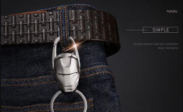 2019 heißer verkauf iron man keychain männer auto anhänger ring schlüsselanhänger benutzerdefinierte metall paar besonderes geschenk