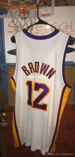 Дешевый оптового Шеннон Браун Джерси AD Pro Grade # 12 футболка жилет прошитого баскетбол NCAA