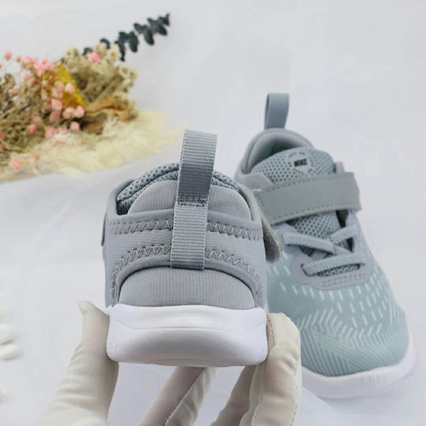 2019 spring new outdoor kid shoes breathable flat boys girls school Non-slip Net cloth casual shoes sneakers