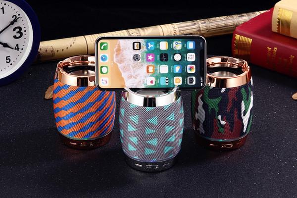 Wrdlosy F18 Phone Holder Bluetooth Speaker Sport Outdoor Speaker HIFI Bass Sound 5W Subwoofe Column TWS Box Hand free calling