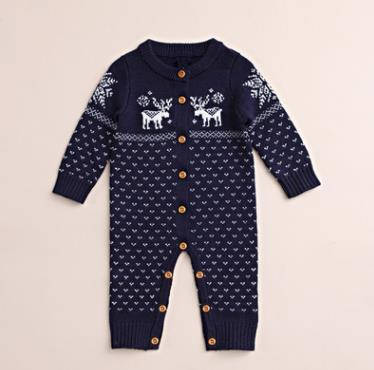 #1 Knitted Baby Romper
