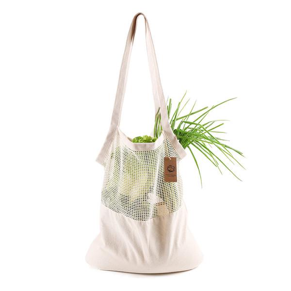 Reusable Shopping bag Fruit Vegetables String Eco Grocery Bag Portable Storage Bag Tote Mesh Net Cotton Storage Bags DHL HH9-2409