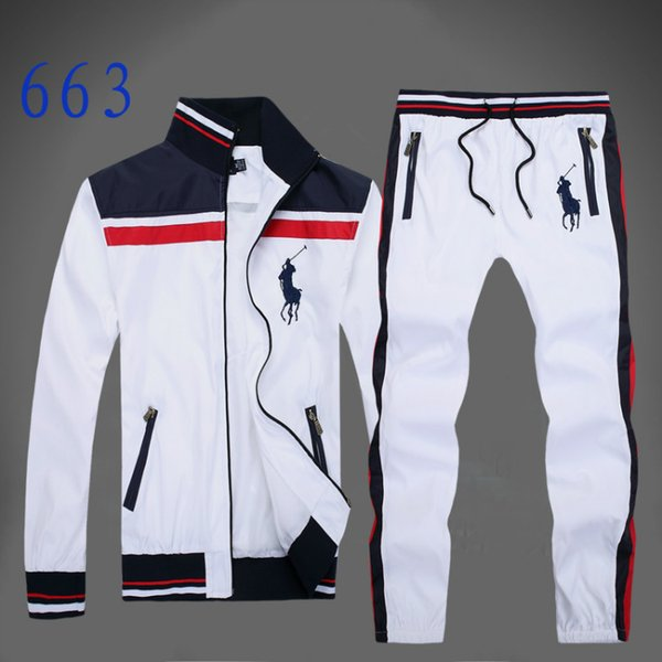 best selling Autumn men's full zip tracksuit men sport suit white cheap men sweatshirt and pant suit hoodie and pant set sweatsuit men