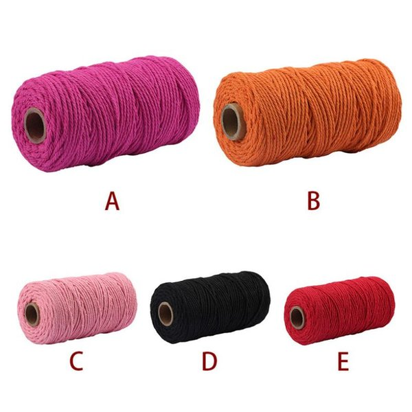 best selling 3.5MM x 100M Macrame Cotton Cord For Wall Hanging Dream Catcher Handmade Craft Art Macrame String Cotton Rope 0507#