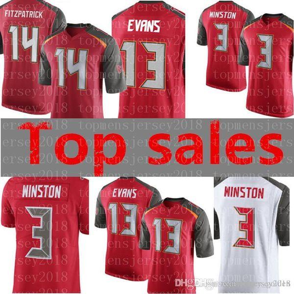 super popular 173a2 05666 2019 Mens 13 Mike Evans 3 Jameis Winston Jersey Tampa Bay Buccaneers  Football Jerseys Stitched Logos M XXXL From Topmensjersey2018, $26.04 | ...