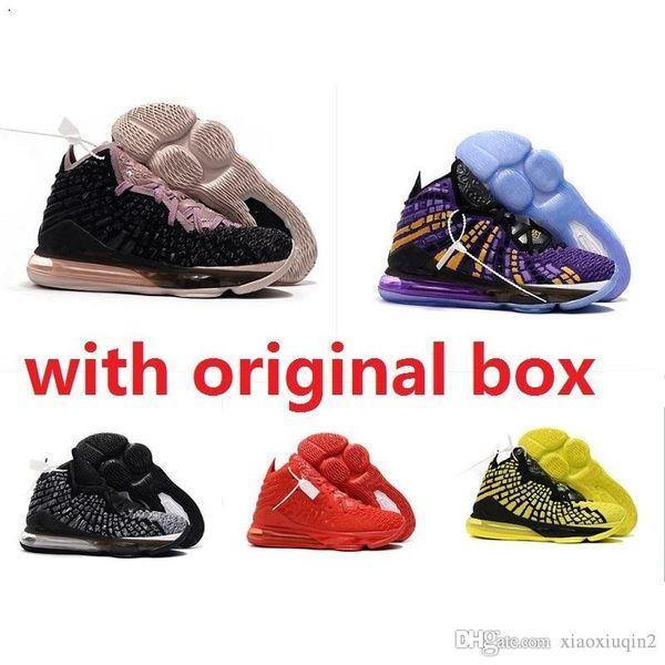 Scarpe da pallacanestro da uomo nuove lebrons 17 XVII economiche in vendita retro lebron james 17s MVP BHM Oreo scarpe da donna per bambini stivali scatola originale 7-12
