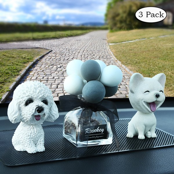 3 Pack Car Air Freshener Decoration Dog Interior Display Decoration Car Dashboard Ornament Home Decor Gift KG007
