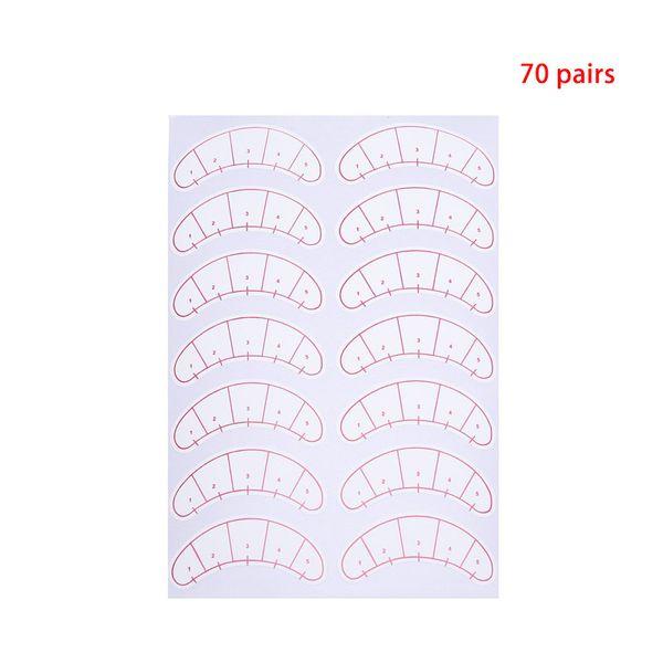 70 Pairs/Pack Paper False Eyelash Patches 3D Eyelash Under Eye Pads Lash Eye Lash Extension Practice Eyes Tips Sticker Wraps