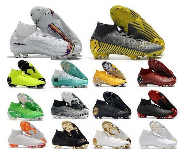 2019 Fútbol Zapatos de fútbol mercurial superfly VI 360 Elite FG KJ 6 12 cr7 Ronaldo Neymar hombres Mujeres Niños Zapatos de fútbol botas de fútbol