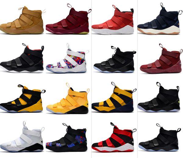newest ae8f3 42412 2019 New Color Lebron Soldier XI Basketball Shoes Original Designer Lebron  11 Soldier For Men Size 7 12 From Af1_, $106.54 | DHgate.Com