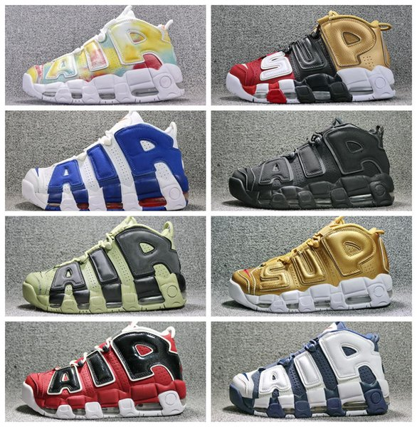 High Quality Original Uptempo Basketball Shoes Static Mens Womens 96 QS Olympic Varsity Maroon 3M Scottie Pippen Sports Sneakers Size 36-45