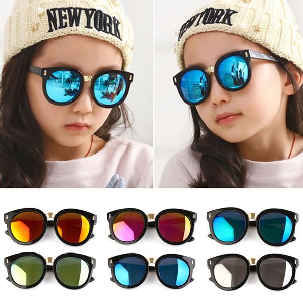 Retro Vintage Kids Oversized Sunglass UV400 Brand Designer Children's Mirror Sun Glass Luxury Shades Baby Boy Girl Sunglass
