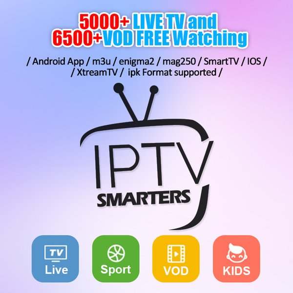 America USA IPTV Subscription 1 Year 200+ Live Movie Channels For Android  TV BOX Phone Mag Box Smart Tv Support M3U Arabic France IPTV Box Tv Android