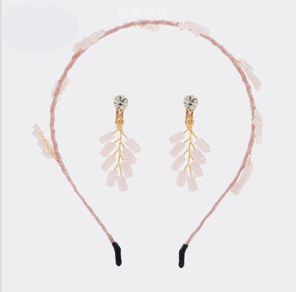 Crystal hair crown Korean hair hoop 5 kinds of color combination handmade headdress