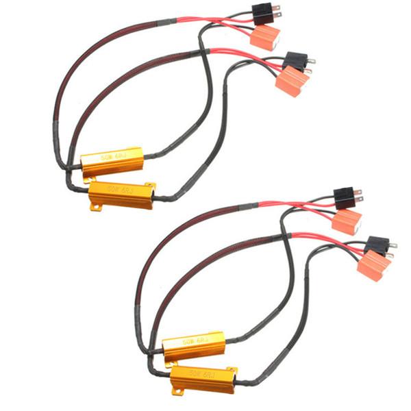 2 stücke 50 Watt 6RJ H7 Scheinwerfer Lastwiderstand LED Canbus Auto Nebelscheinwerfer Decoder Fehler Warnung Widerstand