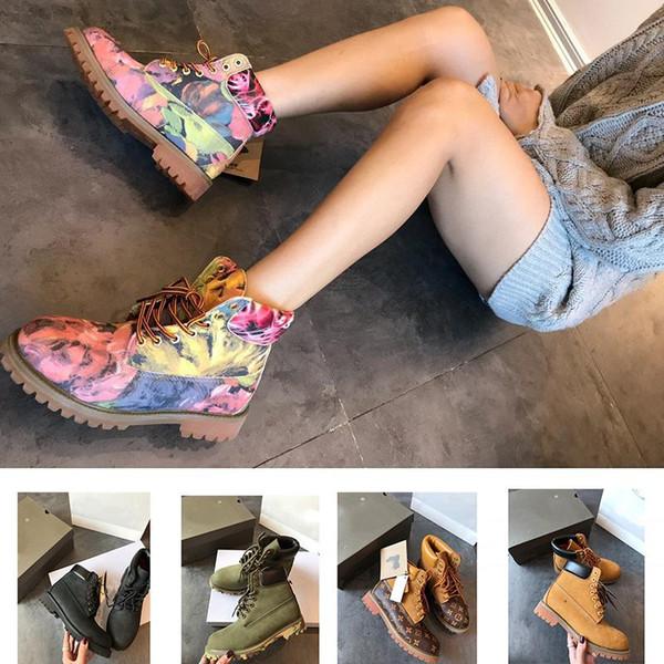 2018 de calidad superior Tbland de trigo de primera calidad 6 pulgadas botas de cuero zapatos de diseño a prueba de agua de lujo zapatos de vestir