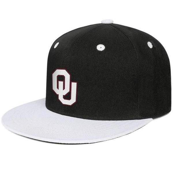 Oklahoma Sooners футбол белый логотип Белый для мужчин и женщин хип-хоп с плоскими полями клёвый дизайнер гольф спорт мода бейсбольная команда модный